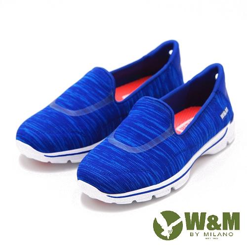 W&M MODARE針織輕便休閒鞋 女鞋-藍(另有黑、桃)