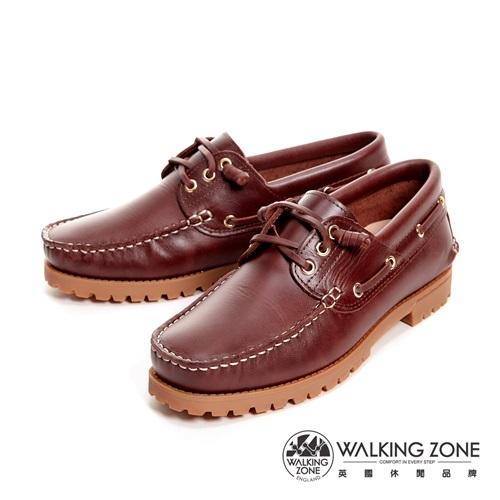 【WALKING ZONE】經典復刻雷根鞋(紅棕色) 小牛皮手工-男