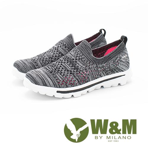 W&M MODARE 飛線編織輕量透氣 女鞋-灰黑(另有淺灰、粉橘)