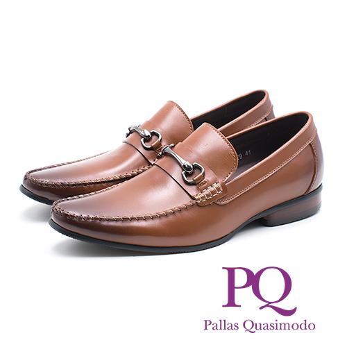 PQ 真皮I型扣小尖頭直套鞋 男鞋 - 棕 (另有黑)