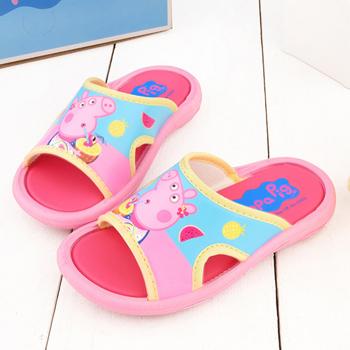 童鞋城堡-粉紅豬小妹 佩佩豬 中童 夏日水果戶外拖鞋PG0009-粉