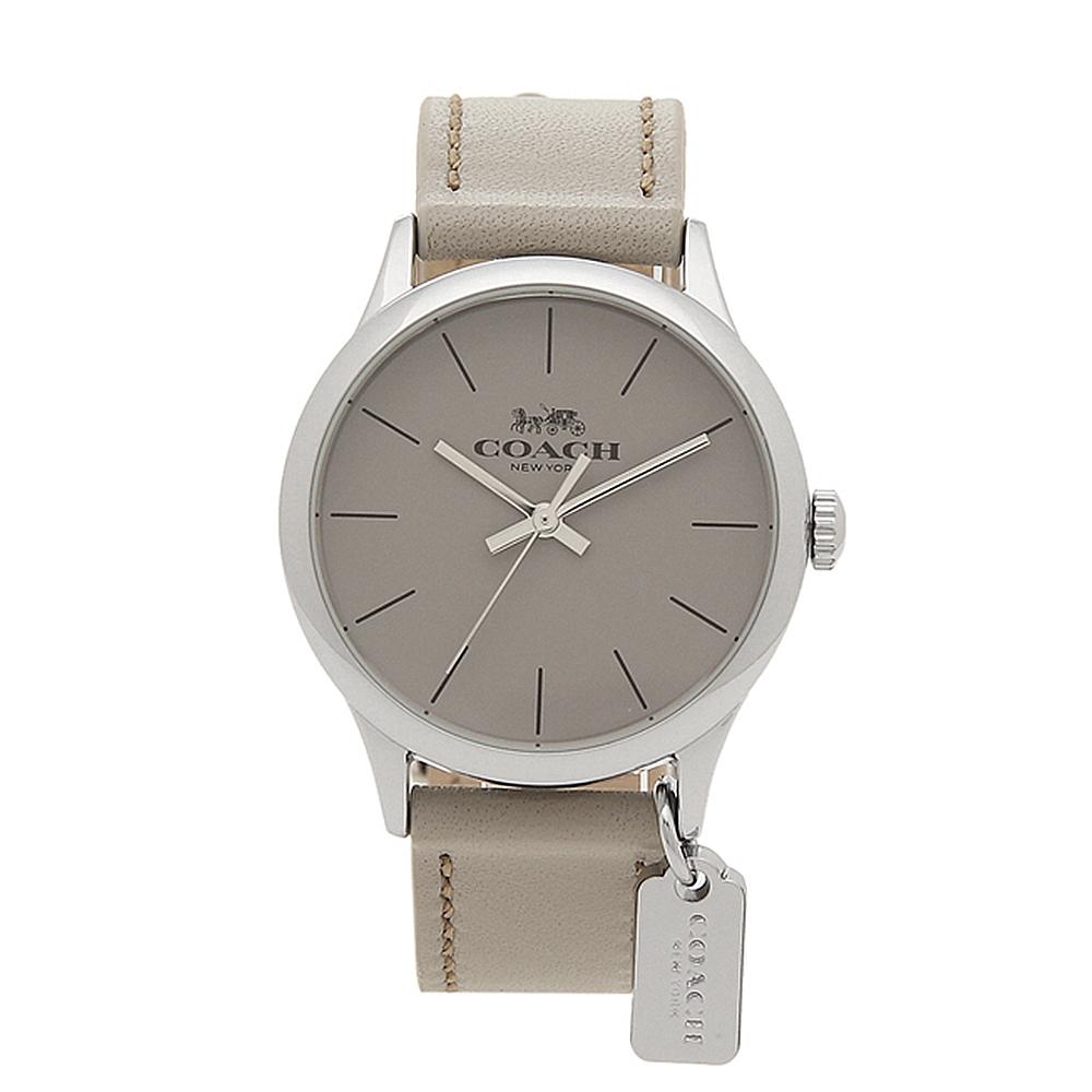 【COACH】經典款圓形石英女錶(灰色) 14503253