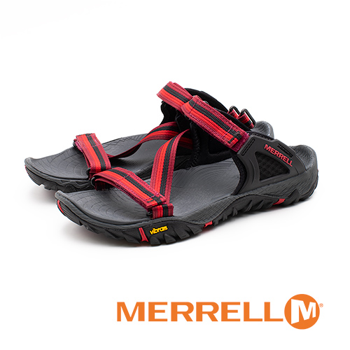 MERRELL ALL OUT BLAZE WEB 織帶涼鞋 女鞋 - 紅