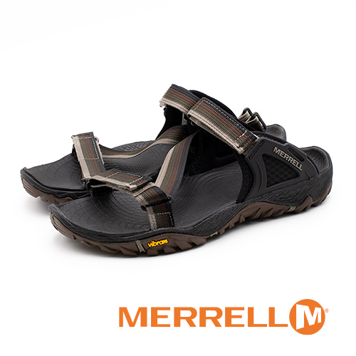 MERRELL ALL OUT BLAZE WEB 織帶涼鞋 男鞋 - 咖