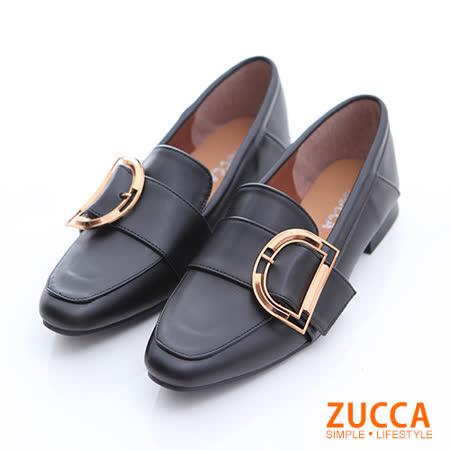 ZUCCA D金屬環紳士平底鞋