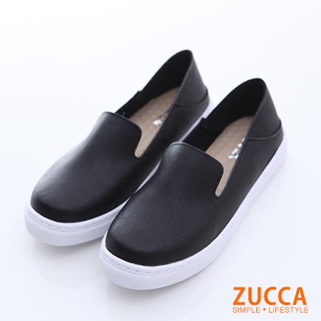 ZUCCA 純色皮革厚底平底鞋