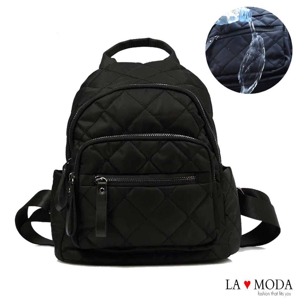 La Moda 人氣注目焦點出國必備小香風防潑水大容量防盜後背包