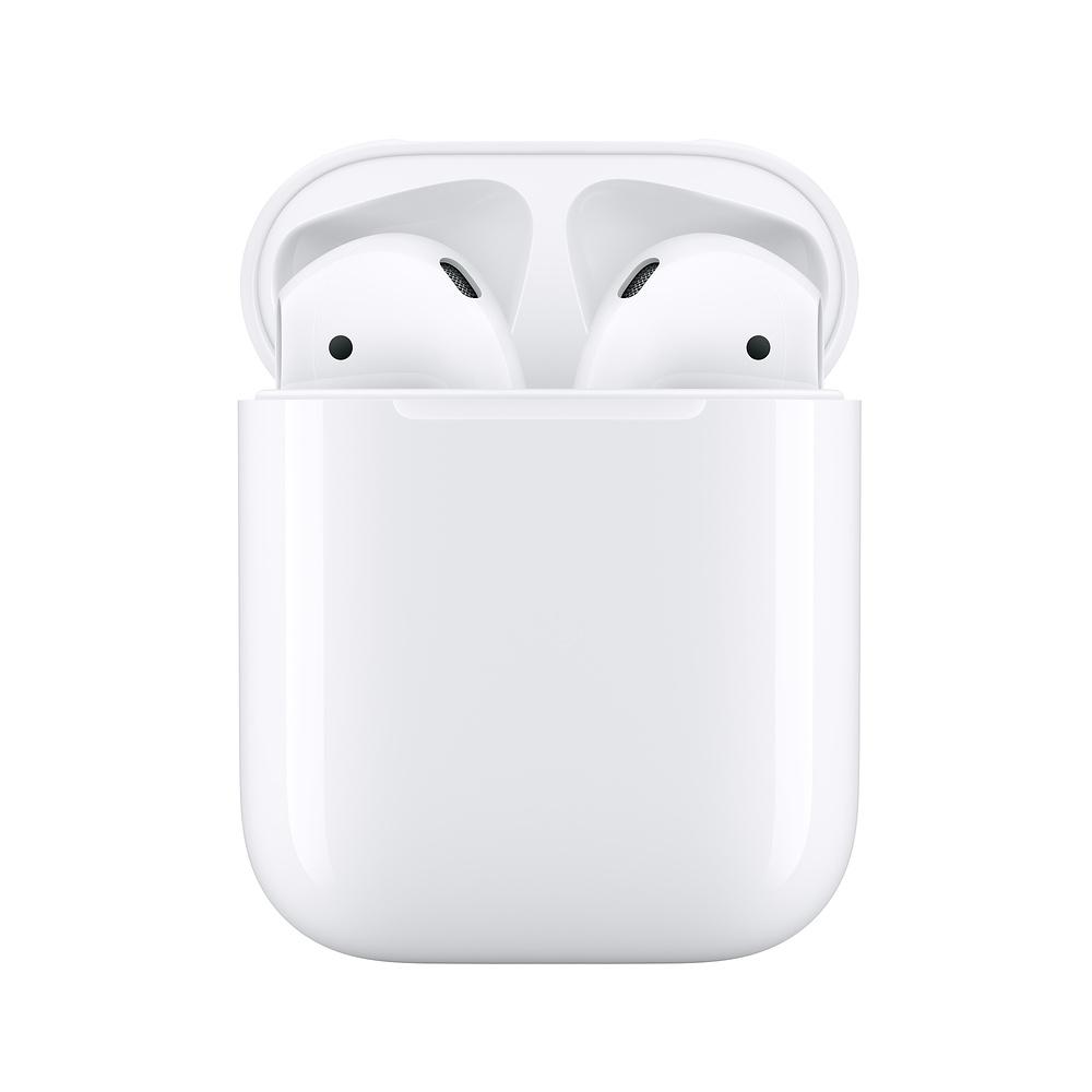 Apple AirPods 搭配充電盒 第二代藍牙耳機 有線充電(MV7N2TA/A)-送TESCOM大風量負離子吹風機