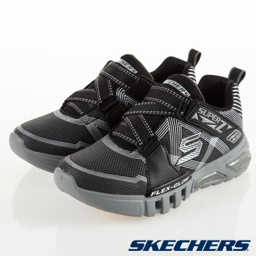 SKECHERS 男童系列 FLEX GLOW - 90543LBKCC