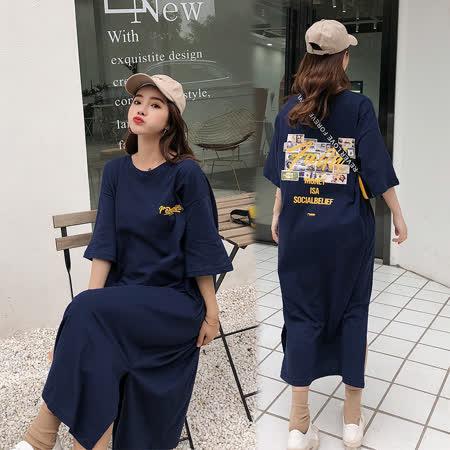 韓系女衫 時尚綿質休閒洋裝