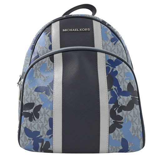 MICHAEL KORS BUTTERFLIES 蝴蝶鉚釘雙肩後背包.寶藍/藍