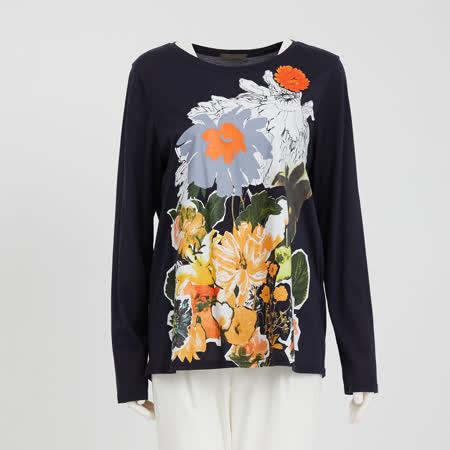 Oggi 鮮豔熱帶花朵印花上衣