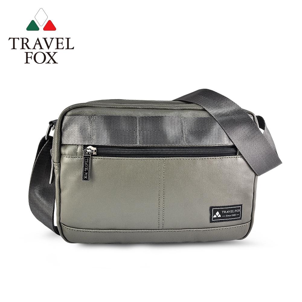 TRAVEL FOX 旅狐 - 輕巧雙料防撥水帆布側背包 TB700-17 綠色