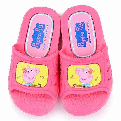 童鞋城堡-粉紅豬小妹 佩佩豬 中小童 吉他音樂室內外拖鞋PG0040-粉
