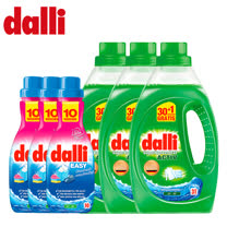 德國dalli<br/>全效洗衣精X3+輕鬆洗衣精X3