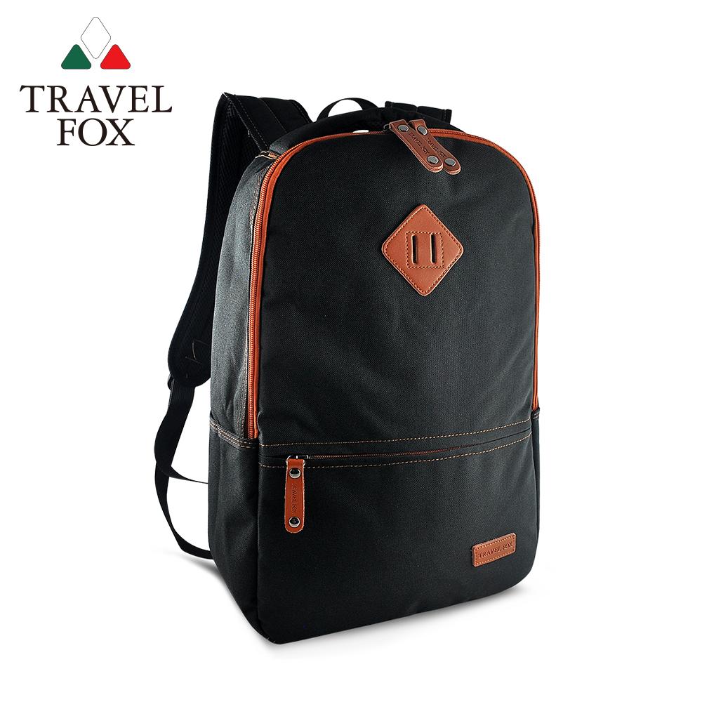 TRAVEL FOX 旅狐 - 極簡酷黑豬鼻筆電後背包 TB680-01 黑