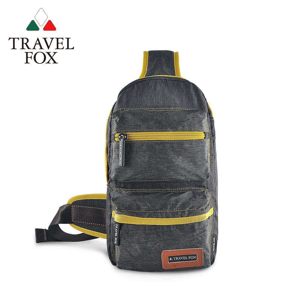 TRAVEL FOX 旅狐 - 單肩休閒車縫斜肩包 TB676-98 灰色