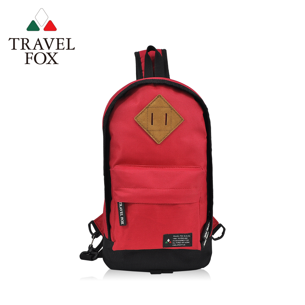 TRAVEL FOX 旅狐 - 尼龍輕巧豬鼻系單肩斜背包 TB666-04 紅色