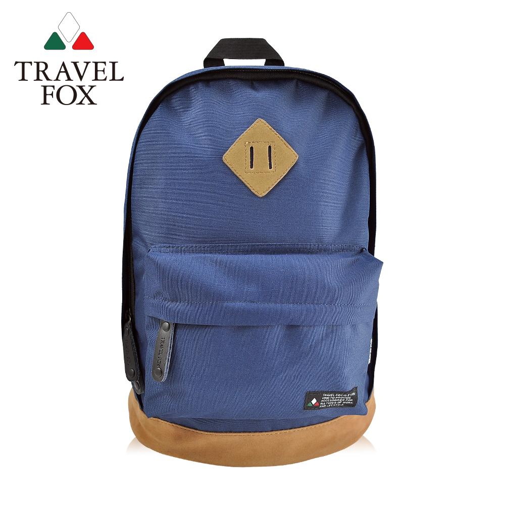 TRAVEL FOX 旅狐 經典小豬鼻系雙色後背包 TB660-47 藍色