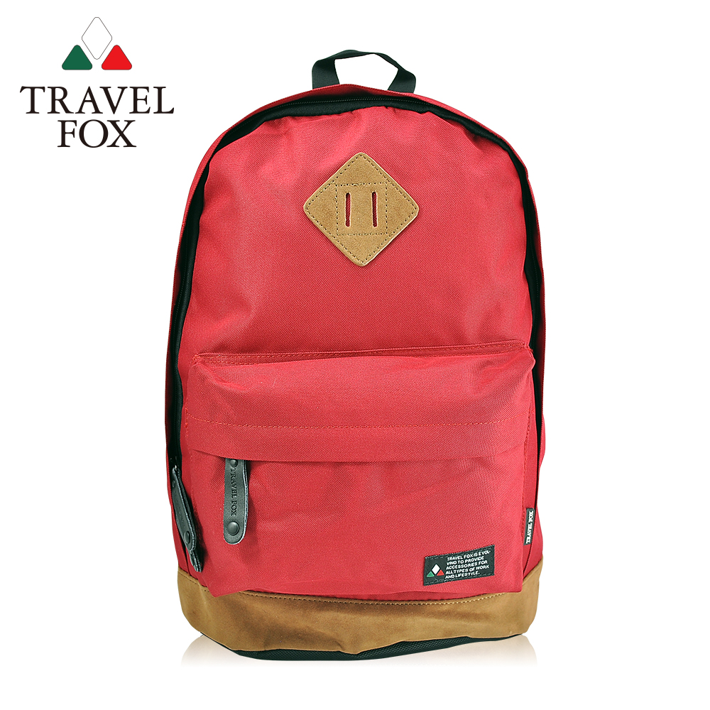 TRAVEL FOX 旅狐 經典小豬鼻系雙色後背包 TB660-04 紅色