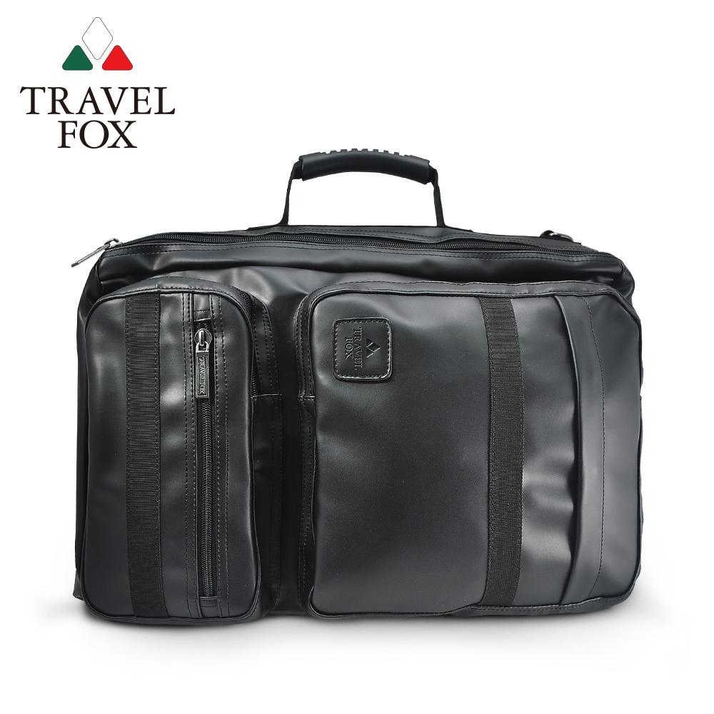 TRAVEL FOX 旅狐 大容量質感商務三用輕旅包 TB639-01 黑色