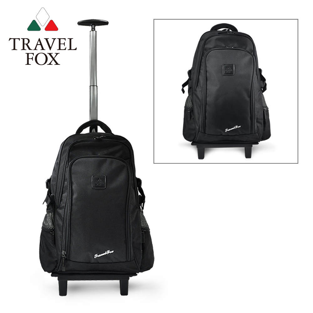 TRAVEL FOX 旅狐 旅行系列經典輕量多功能拉桿包/後背包 TB616-01 黑