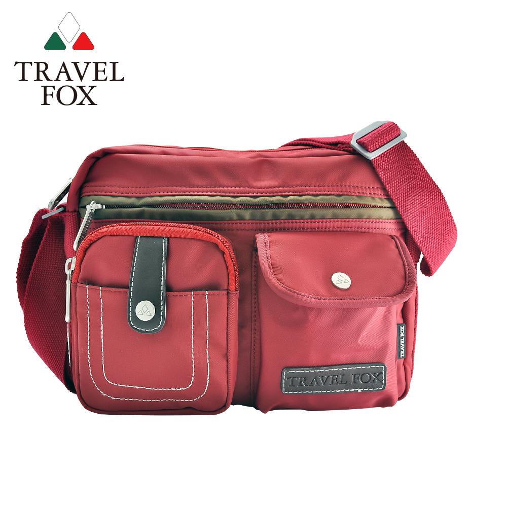 TRAVEL FOX 旅狐 撞色雙層隨身斜背包 TB605-04 紅色