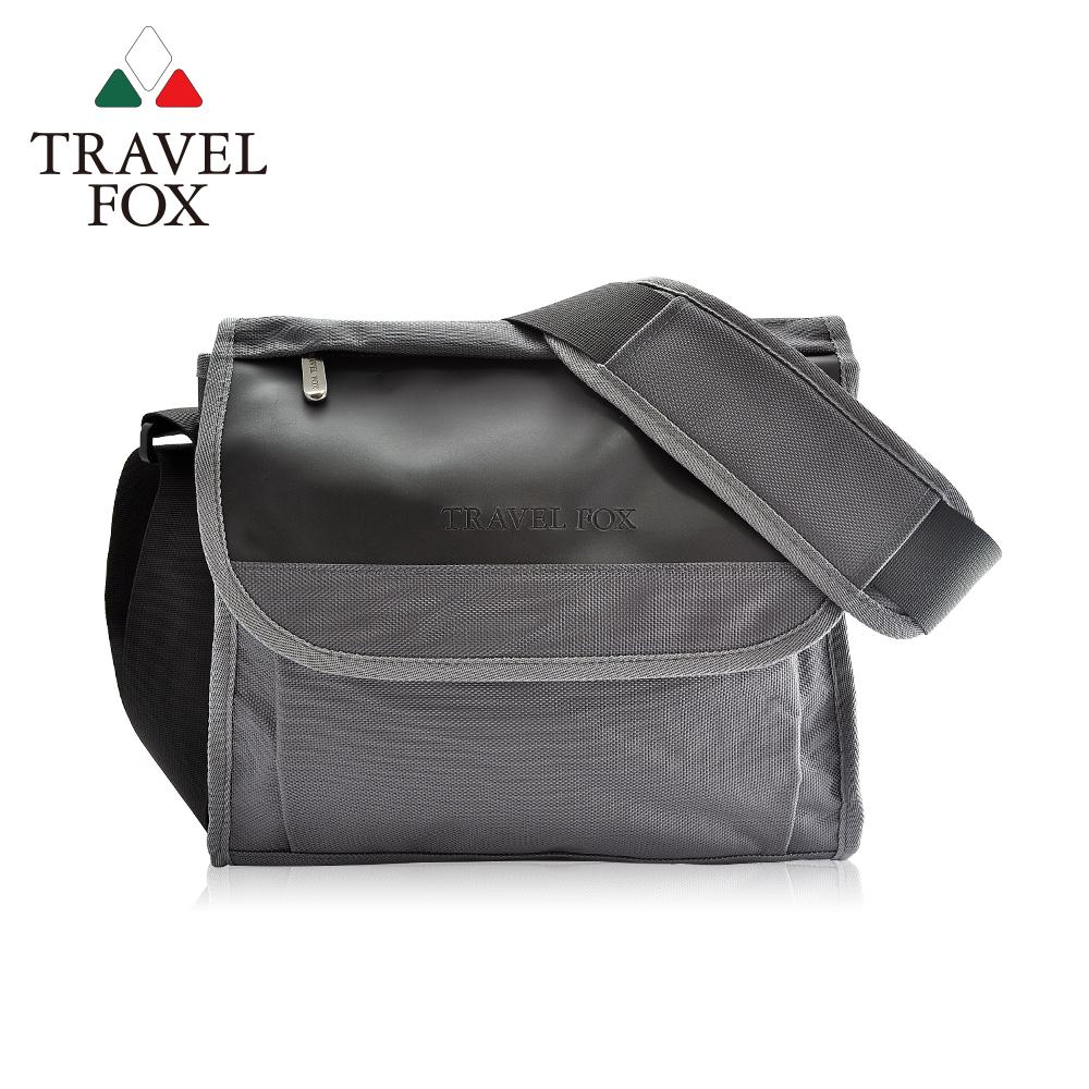 TRAVEL FOX 旅狐 簡約商務鑽紋公事包/側背包 TB599-13 灰色