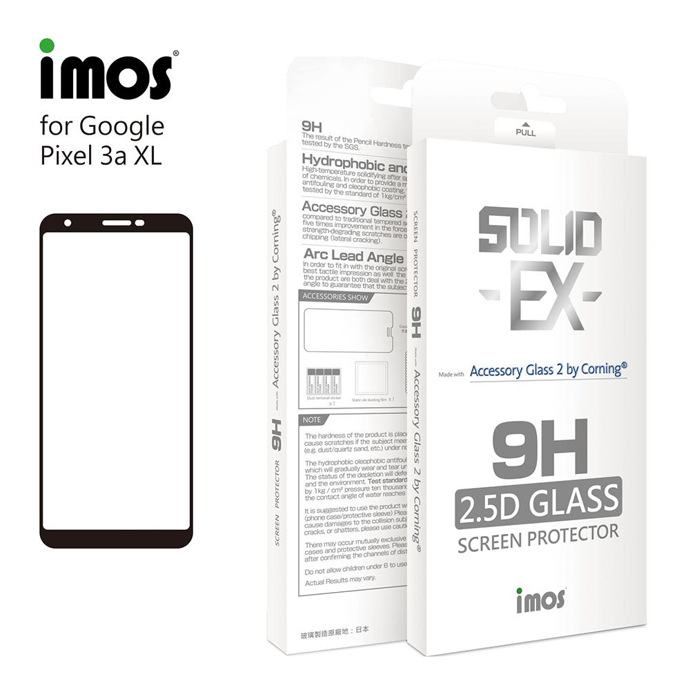 iMos Google Pixel 3a XL 2.5D 滿版玻璃 螢幕保護貼