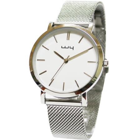 WY威亞-白 簡約潮流米蘭中性錶