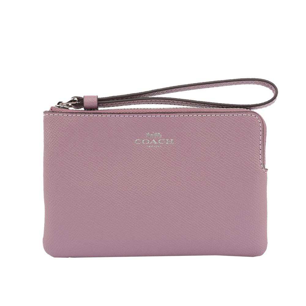 【COACH】L型皮革拉鍊手拿包(紫色) F58032 SVNII