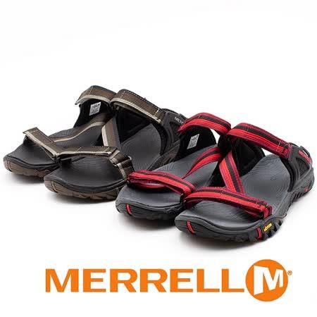 MERRELL 男女款 黃金大底織帶涼鞋(任選)