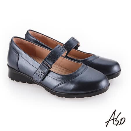 A.S.O阿瘦 人體工學牛皮休閒鞋