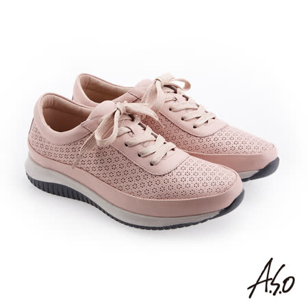A.S.O阿瘦 牛皮綁帶休閒鞋