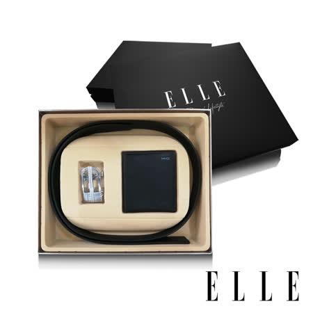 ELLE 男爵系列 真皮皮夾+皮帶禮盒