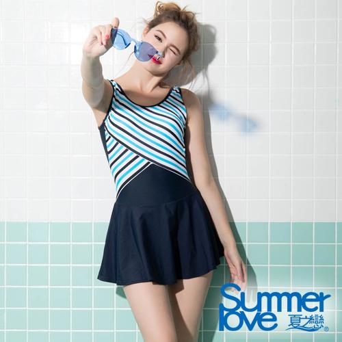 夏之戀SUMMERLOVE 大女連身帶裙泳衣S19712