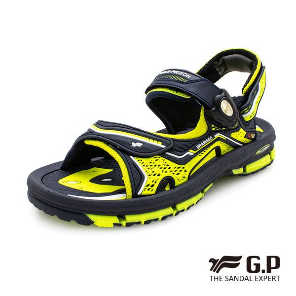 【G.P 兒童透氣舒適磁扣兩用涼拖鞋】G9262B 綠色(SIZE:32-36 共二色)