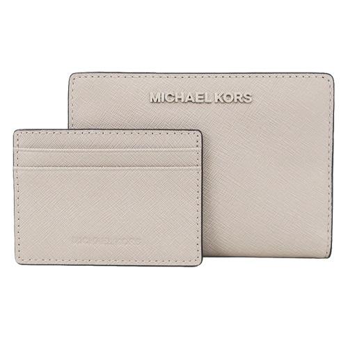 MICHAEL KORS 防刮卡片零錢夾(附名片夾)-灰