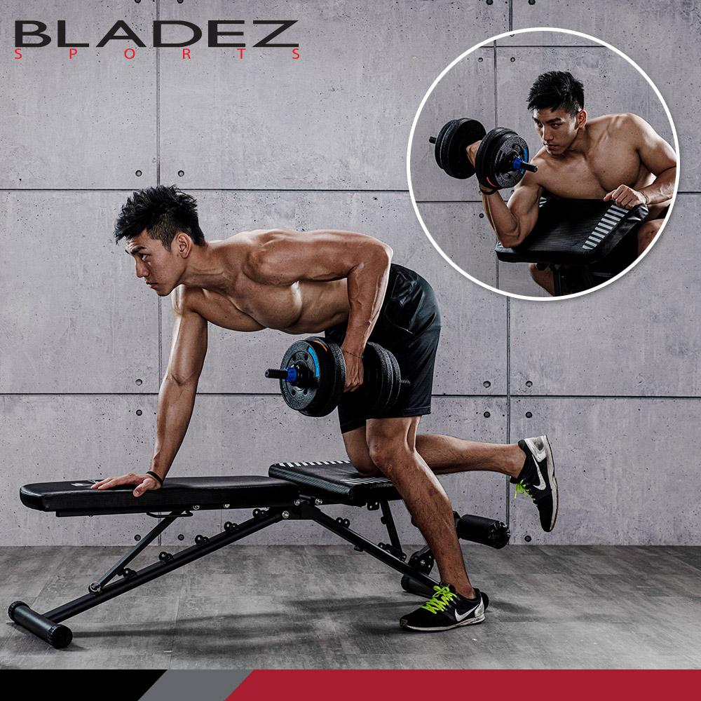 【BLADEZ】BW13-3.0-可變式二頭彎舉臥推訓練椅/重訓床