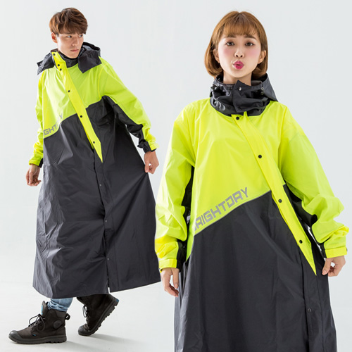 OutPerform-終結者斜開專利連身式雨衣-螢光黃
