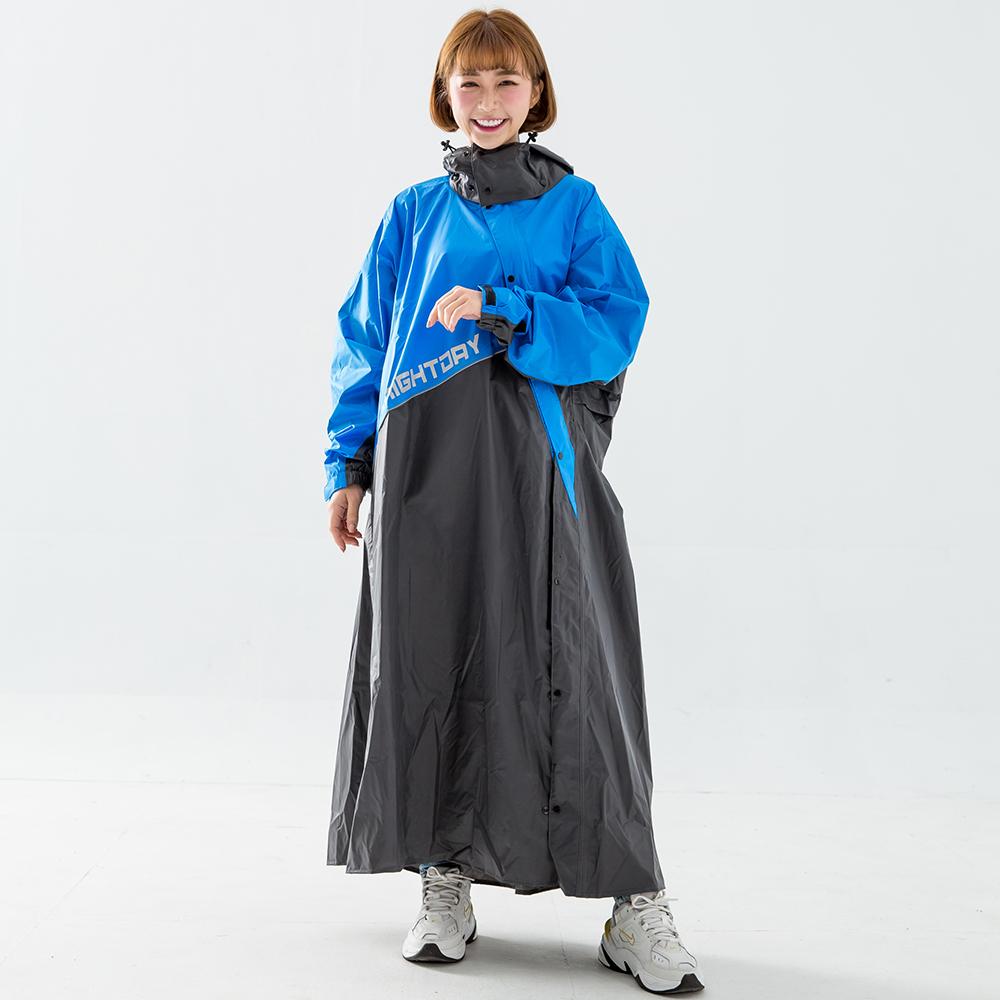 OutPerform-終結者斜開專利連身式雨衣-寶藍