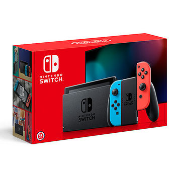 Nintendo Switch新款主機-搭紅藍手把