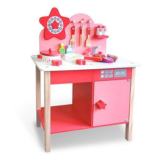 樂兒學嚴選 星光木製學習積木廚房玩具組