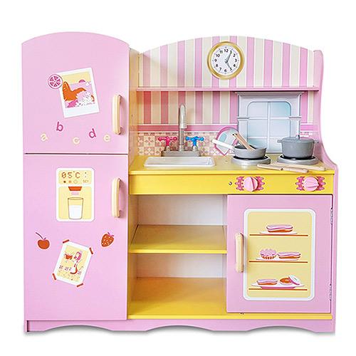 樂兒學嚴選 魔法安娜木製學習積木廚房玩具組