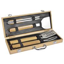 法國mastrad<br/>竹柄燒烤專用工具組