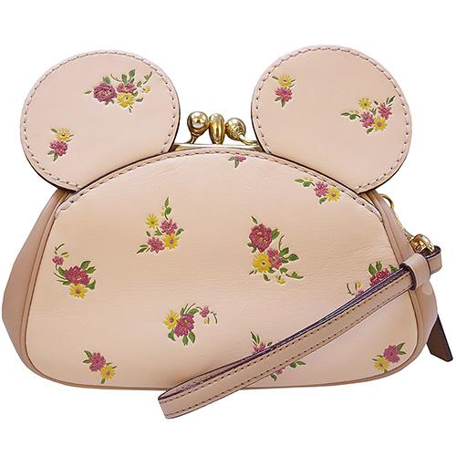 COACH MINNIE可愛造型手拿珠扣小包(粉色)
