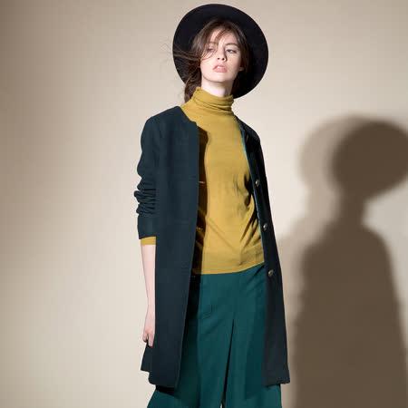 PANGCHI 龐吉 簡約素雅長版大衣