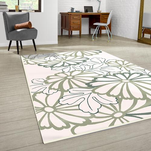 范登伯格 - 赫曼 進口地毯 - 花描 (粉) (大款 - 160 x 230cm)