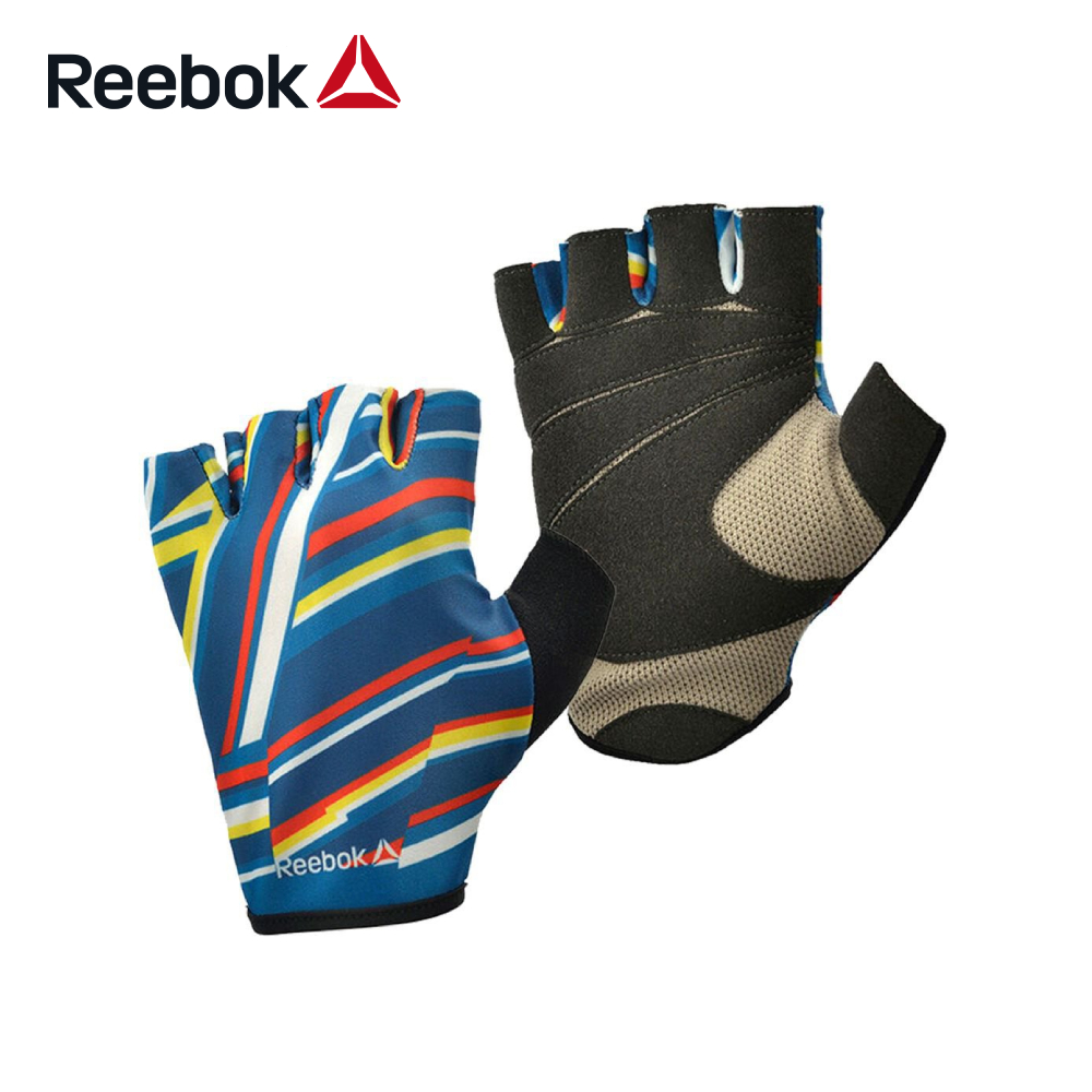 Reebok 健身手套-斜紋彩