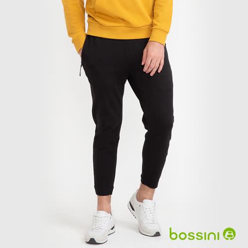 bossini男裝-針織束口長褲02黑